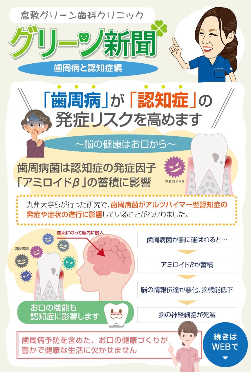 グリーン新聞【歯周病と認知症編】